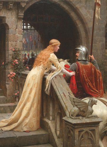 Amour courtois: le chevalier et sa dame