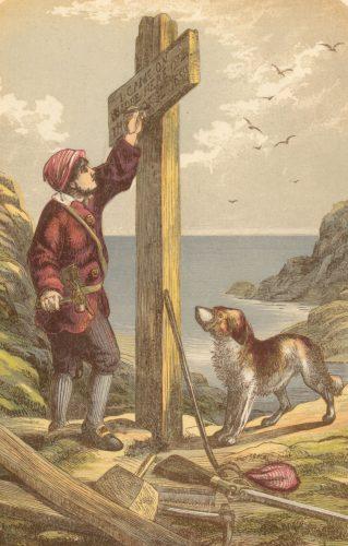 Robinson Crusoe sur son île